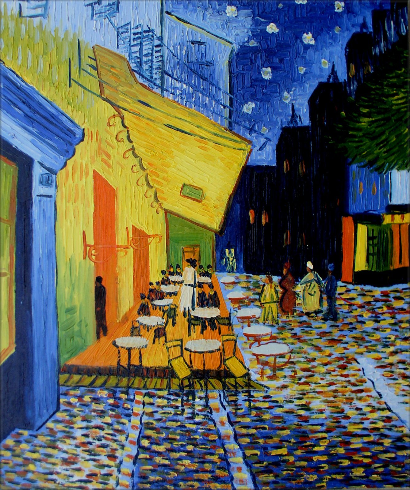 Framed Hand Painted Oil Painting Repro Van Gogh Cafe