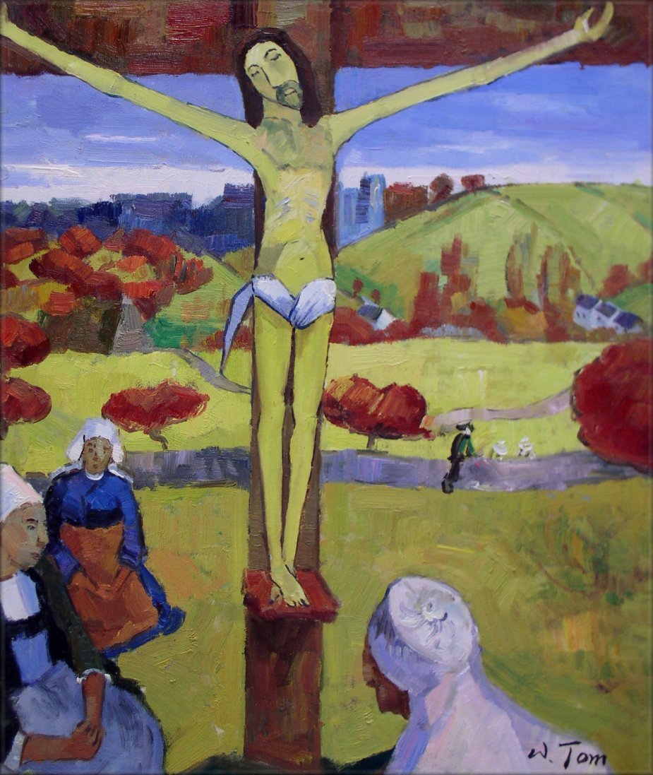 ... Painted Oil Painting Repro Paul Gauguin Yellow Christ 20x24in | eBay