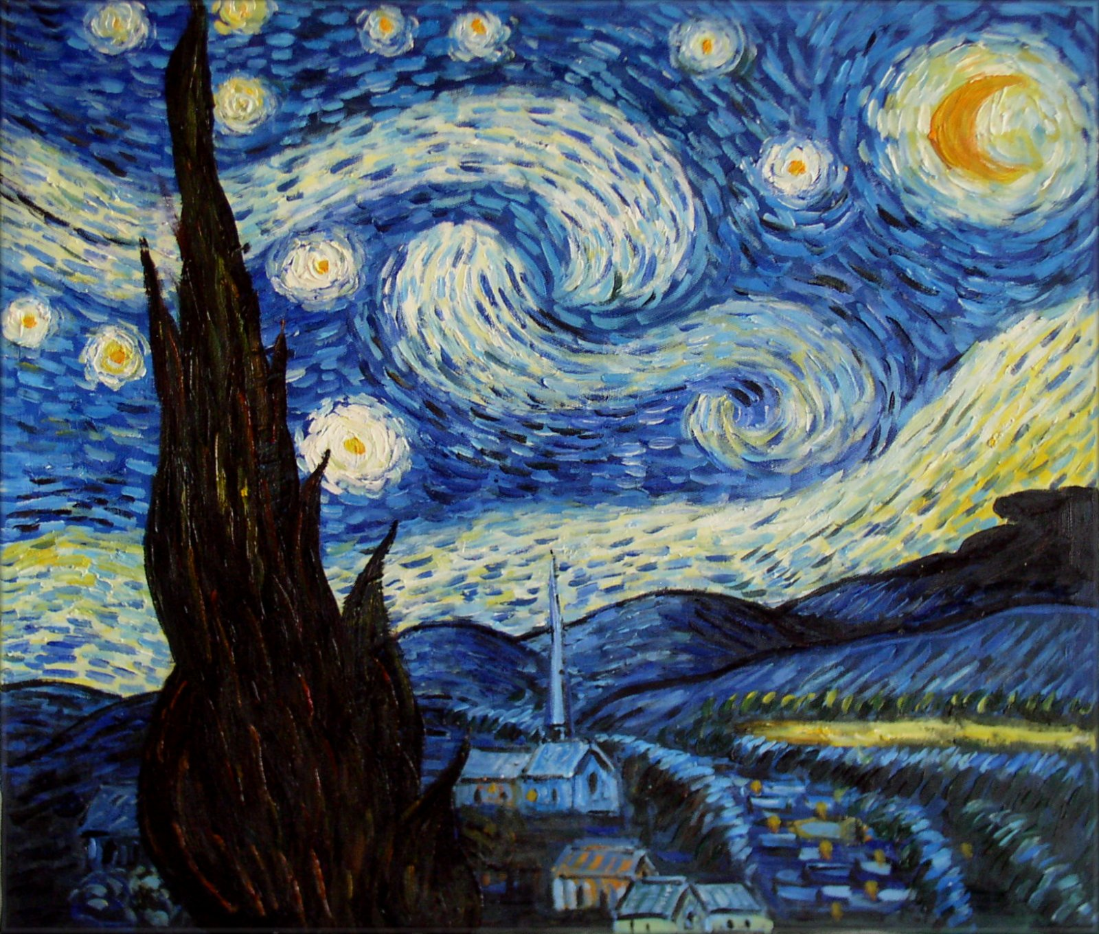 Vincent Van Gogh Starry Night Repro Quality Hand Painted Click Starry Vincent