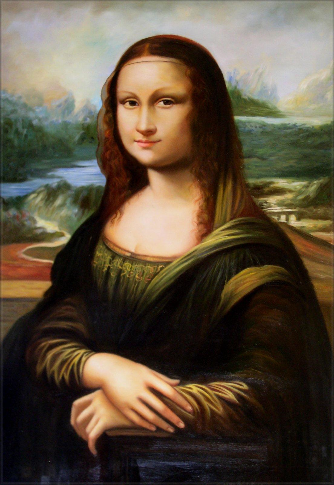 Framed Da Vinci Mona Lisa Repro Quality Hand Painted Oil ... Da Vinci Mona Lisa