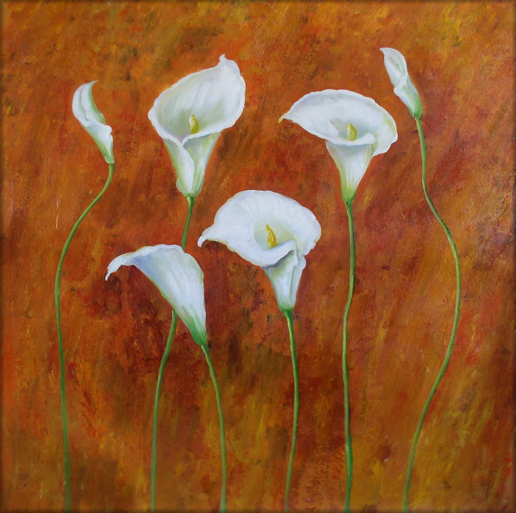 Ex Large Modern Hand Painted Oil Painting 30x30in White ...