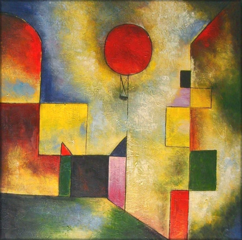 paul klee 39 s red balloon repro quality hand painted oil